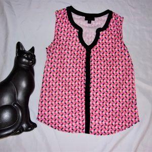 small tank top shirt dress casual pink black white